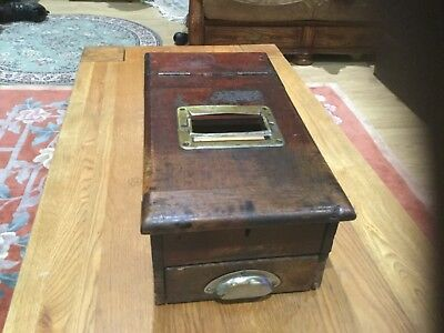 Early 20Th  Century Wooden Cash Till , With Ringing Working Bell