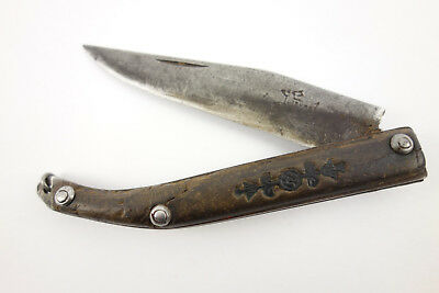 Rare Antique French Canadian Lievre River Fur Trade Native American Indian Knife
