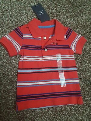 Baby Boys Brand New Tommy Hilfiger Tshirt Top Age 3-6 Months Designer Christmas