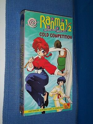 Ranma 1/2 Cold Competition VHS Video dubbed anime