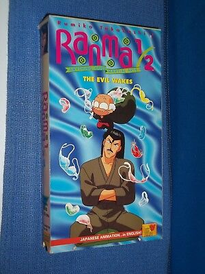 Ranma 1/2 The Evil Wakes VHS Video dubbed anime
