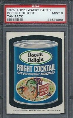 Wacky Packages Series 13 Doesnt Delight Psa 9 Mint