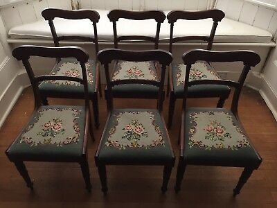 Set Of 6 Gorgeous Mahogany Regency Dining Chairs