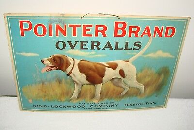 Pointer Brand Overalls Advertising Sign