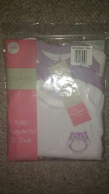 BNIP Tiny/early baby bodysuits 3 pack!!