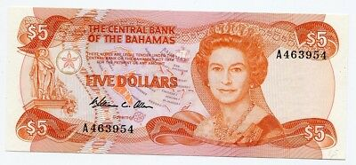 The Central Bank of the Bahamas FIVE DOLLARS 1974  UNC