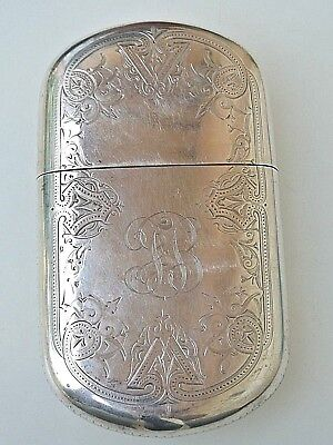 Antique Gorham 1869 J W Tucker Sterling San Francisco Covered Engraved Flask