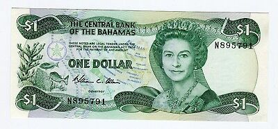 The Central Bank of the Bahamas ONE DOLLAR 1974  UNC
