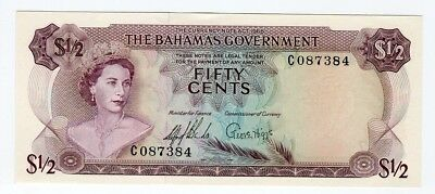 The Bahamas Government    FIFTY CENTS 1965  UNC