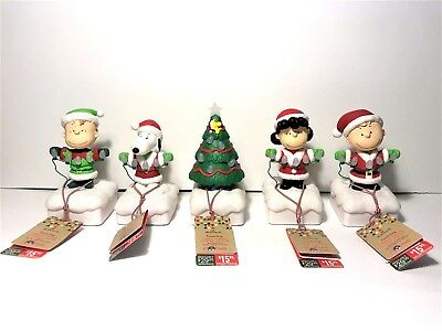 Hallmark Peanuts Light Show Complete Set Wireless Christmas Musical 2015 New