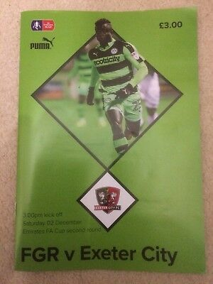 FOREST GREEN ROVERS v EXETER CITY FA Cup 2017-18 Plus Ticket Stub