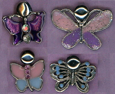 Beautiful pack of 4 Butterfly Brads Charms perfect for scrapbooking FREE POSTAGE