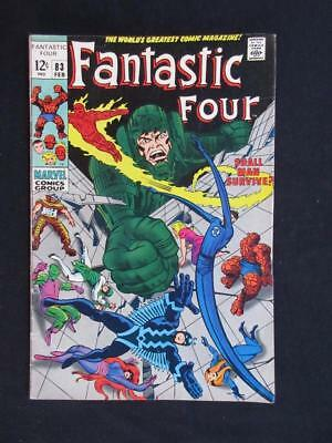 Fantastic Four #83 MARVEL 1969 - HIGHER GRADE - Inhumans app; Black Bolt, Medusa