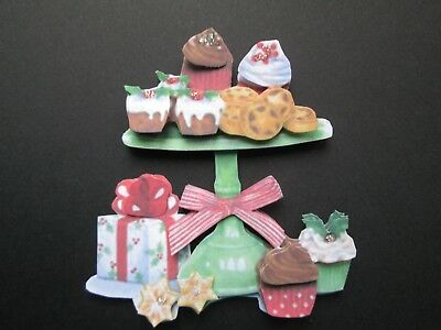 Handmade 3D Christmas treats cupcakes, cookies Embellishment! Scrapbooking