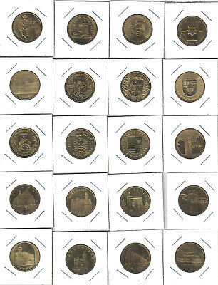 Poland, Lot of 20 Different 2 Zlote Coins, XF to AU, 2004-07