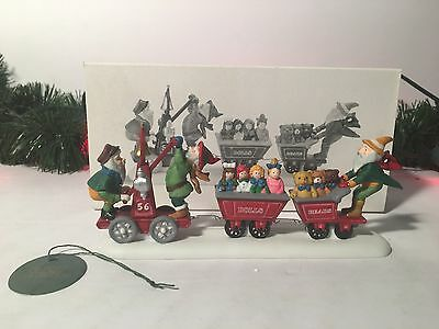 New Department 56 Last Minute Delivery Elfs On Train Heritage Village Collection