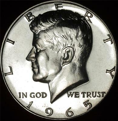 1965 SMS 40% Silver GEM BU Kennedy Half - Best Value @ CherrypickerCoins