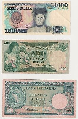 Indonesia Banknote Lot (Lot of 3)
