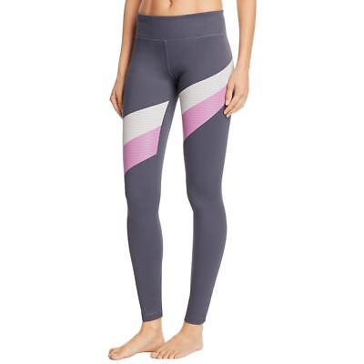 Under Armour 0216 Womens Gray Mirror Stripe Pull On Athletic Leggings L BHFO