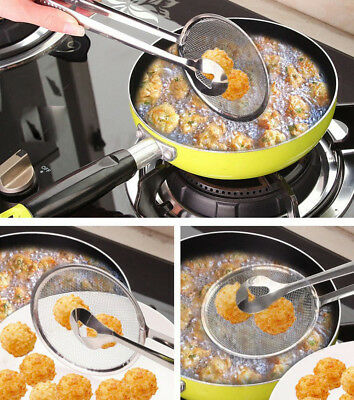 Multi-functional Filter Spoon With Clip Food Kitchen Oil-Frying Salad BBQ Filter