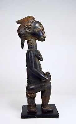 Serene old Baule Female Diviners Sculpture ~ Blolo Bla , African Art