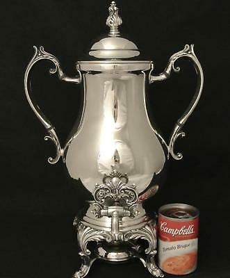 Vintage Silver Plate F B Rogers Co Hot Water Pot Samovar Coffee Pot