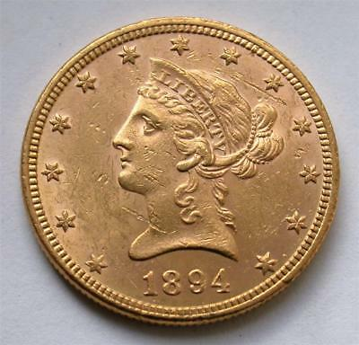 1894 $10 Ten Dollar Liberty Eagle United States Gold Coin