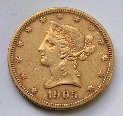 1905-S $10 Ten Dollar Liberty Eagle United States Gold Coin