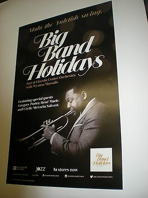 POSTERS by WYNTON MARSALIS big band holidays JAZZ promo for the new album / cd