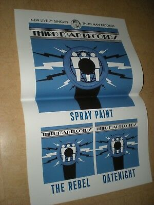 POSTER by THIRD MAN RECORDS spray paint The Rebel DATENIGHT for the promo cds *