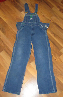 Kids Youth Liberty Overalls Cotton Denim White Stitch Made USA Unisex Size 16 Y