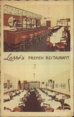 New York City Larre's French Restaurant 50 West 56th St. Postcard