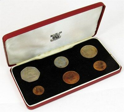 1971 Bailiwick of Guernsey 6-Coin Proof Year Set - Royal Mint Case