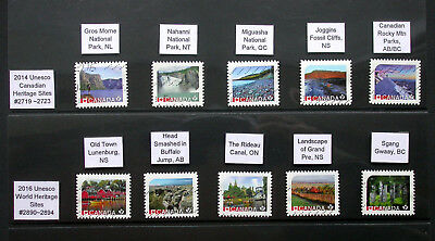 Cancelled Canada Unesco Site Stamps ~ Used Set of 10