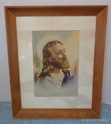 Vintage ~Jesus Christ of Nazareth ~ (Sallman) Portrait Print (from painting)