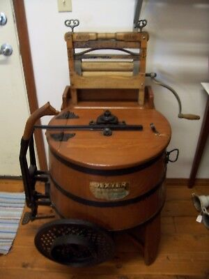 Vintage Hand Operated Dexter Improved Wood Washing Machine