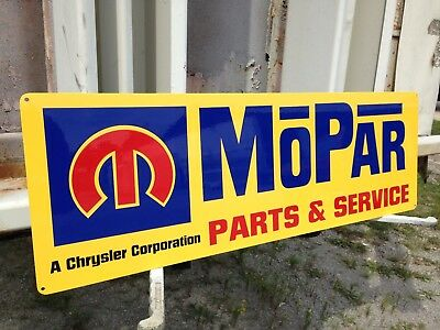 MOPAR SERVICE DODGE PLYMOUTH CHRYSLER SERVICE STATION GAS PUMP SERVICE  sign