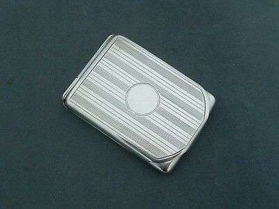 Solid Silver Art Deco Match Vesta Hinged Case Cohen & Charles Birm 1923