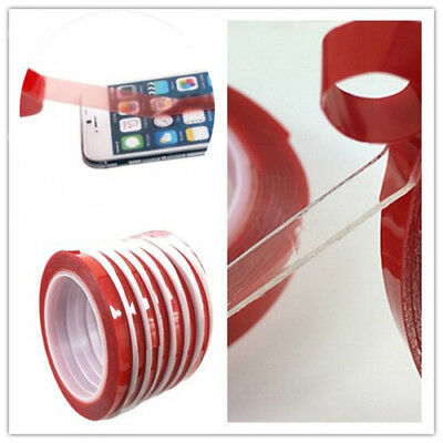 Red Film 3M Transparent Double Sided Sticky Adhesive Tape Cell Phone Repair TOP