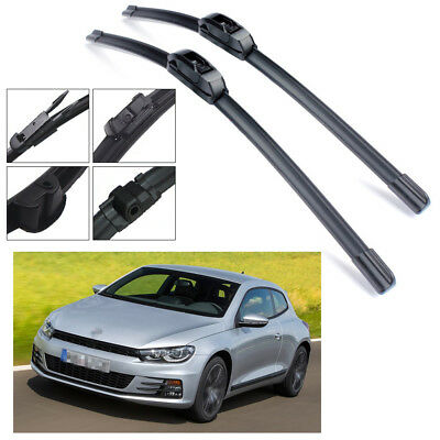 "2Pcs Car Windshield Wiper Blades Bracketless 24"" 19"" for VW Scirocco 2009-2018"