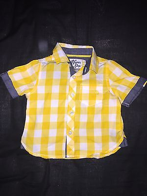 Beautiful Baby Boys Mothercare Shirt 3-6 Months In GC