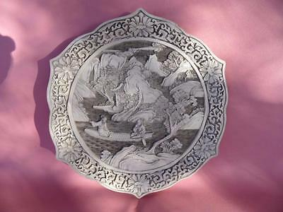 Vintage Carved Resin Oriental Asian Chinese Display Plate