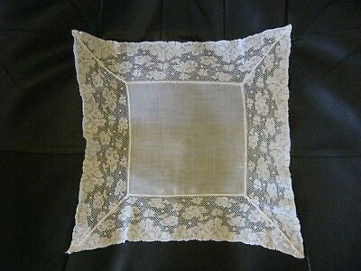Fabulous White Lace Vintage Handkerchief.Awesome! Perfect for Wedding!!**