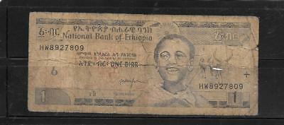 ETHIOPIA #46e 2000 good USED OLD BIRR BANKNOTE PAPER MONEY CURRENCY BILL NOTE