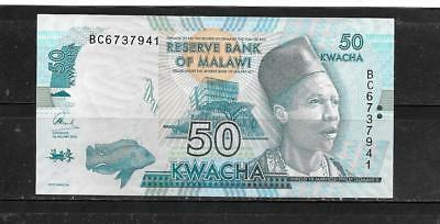 MALAWI #64c 2016 50 KWACHA NEW UNCIRCULATED BANKNOTE PAPER MONEY CURRENCY NOTE
