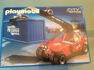Playmobil 5256 wie neu City Action Cargo Container Flughafen Hafen komplett TOP