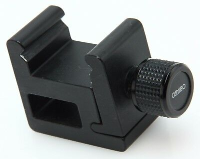 """Cambo rail clamp 1.5- 2"""", 3/8"""" & 1/4 20 threaded mtg., for large format #365203"""