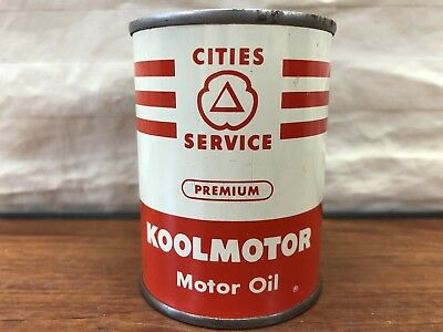 Vintage Gas & Oil Collectible Cities Service Koolmotor Motor Oil Advertising Can