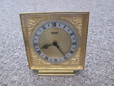 Vintage Luxor C.d. Peacock 8 Day Brass Mantel Clock