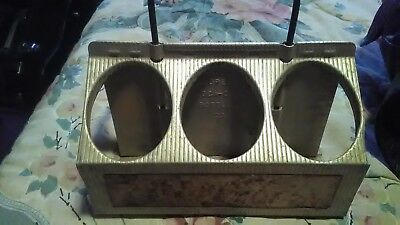 vINTAGE COKE Coca-Cola Aluminum Metal Carrier Bottle Holder 6-Pack